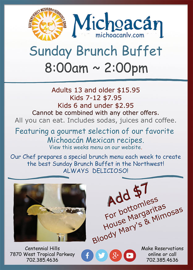 Sunday Brunch Buffet And Breakfast At Michoacán Mexican Restaurant
