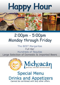 Happy Hour at Michoacan Mexican Restaurant Las Vegas!